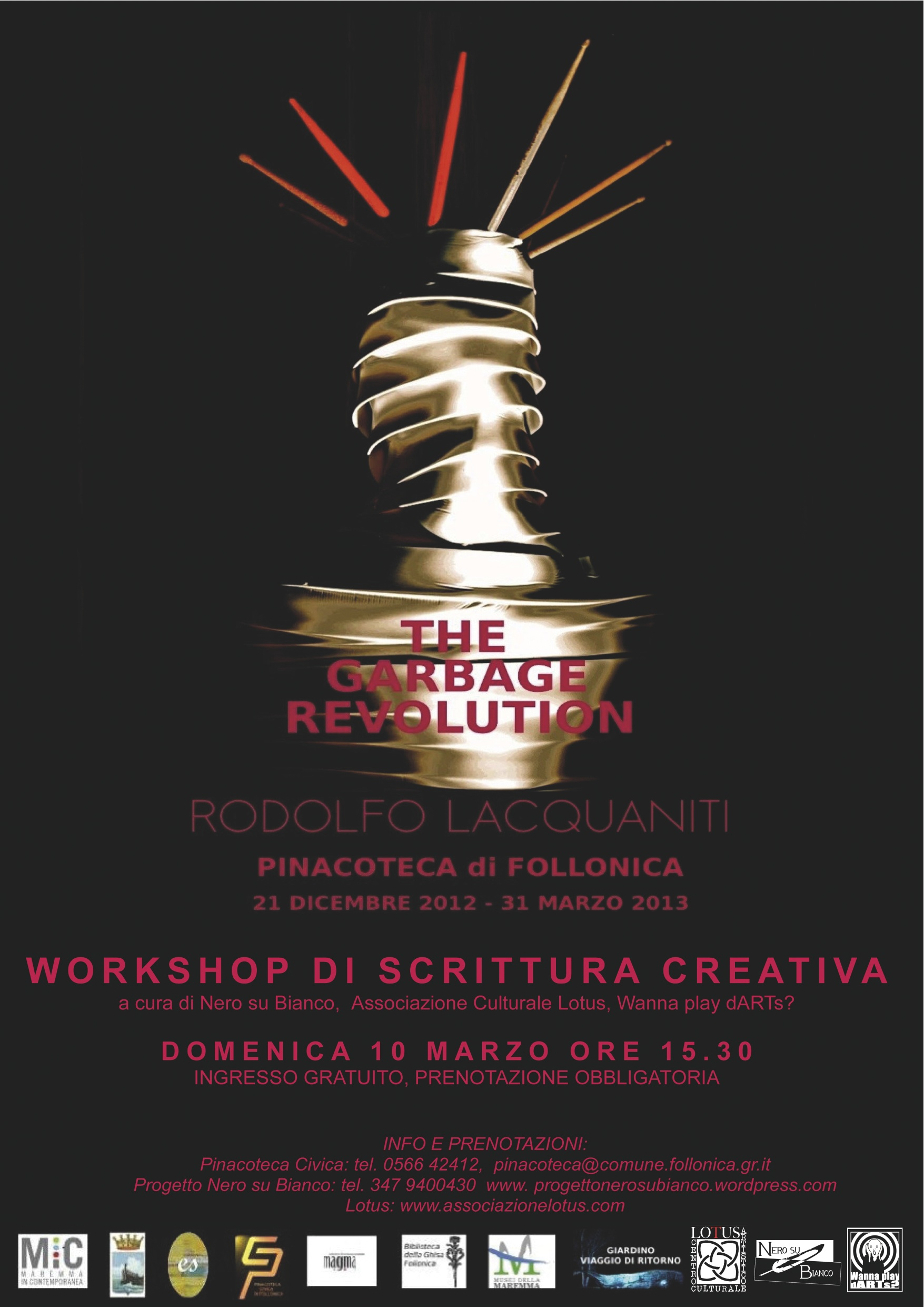 WORKSHOP DI SCRITTURA CREATIVA TEH GARBAGE REVOLUTION