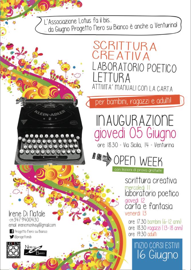 Inaugurazione e Open Week Nero su Bianco Venturina
