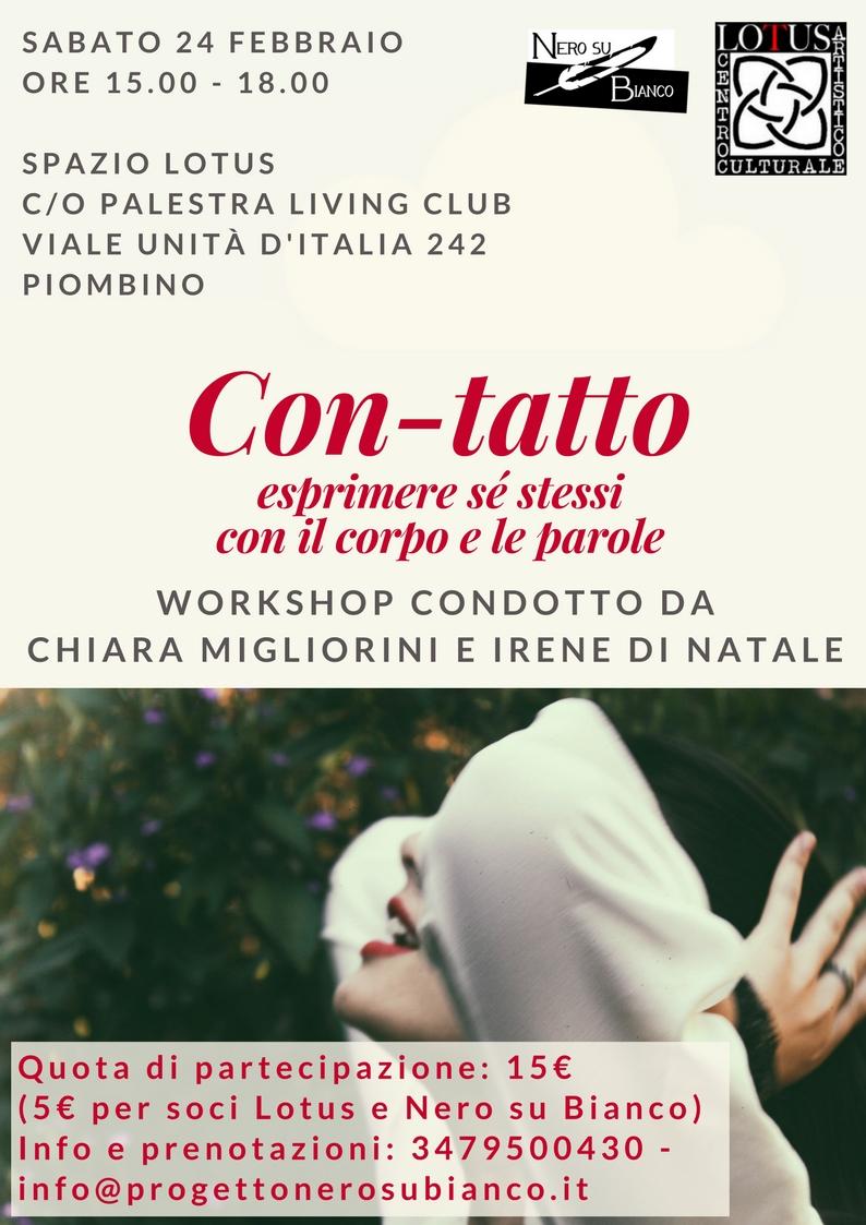 workshop con-tatto 24 febbraio 2018